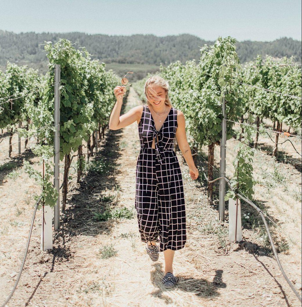 Morgan from Morgan made photo at vineyard in Sonoma